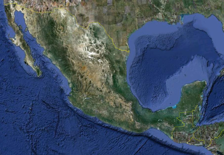 Mexican Weather Map